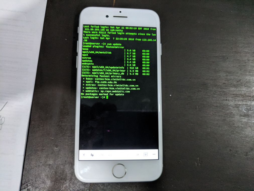 SSH linux from mobile