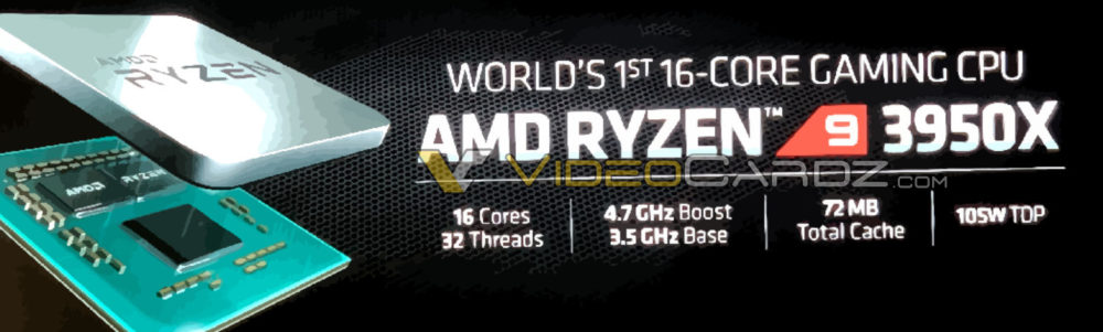 AMD Ryzen 9 3950X 16 core 32 Threads