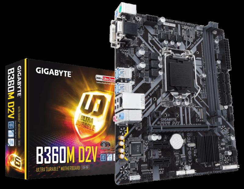 Main Gigabyte B360M D2V Socket 1151v2 cho Intel Coffee Lake gen 2 Tin học Đại Việt