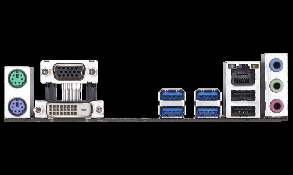 Main Gigabyte B360M D2V Socket 1151v2 cho Intel Coffee Lake gen 2 Tin học Đại Việt Mặt sau