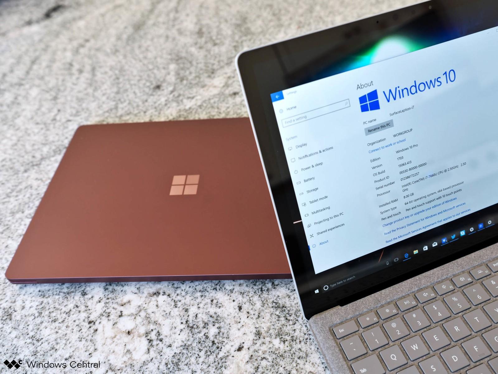 Surface pro 7 và surface laptop 3 sử dụng chíp amd và qualcomm