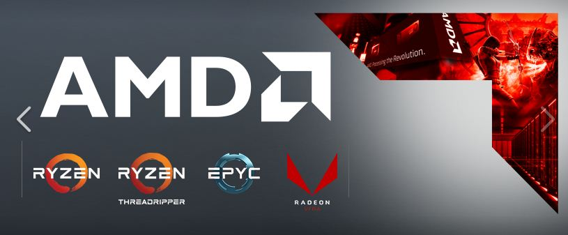 AMD Banner Ryzen Threadripper EPYC Radeon