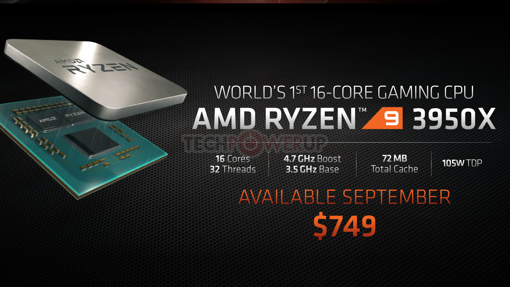 Giá AMD Ryzen 9 3950X là 749USD