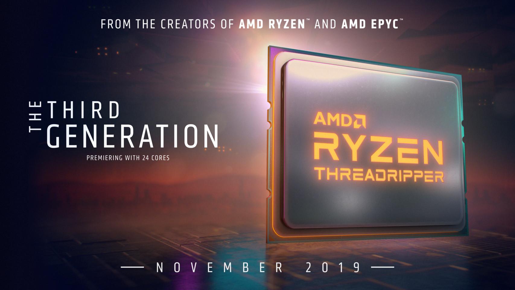 Ra mắt AMD Ryzen Threadripper trong tháng 11 2019