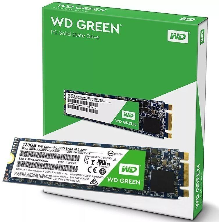 Ổ cứng SSD Western Digital Green 120GB M2 (545 MBs BH 3 năm)