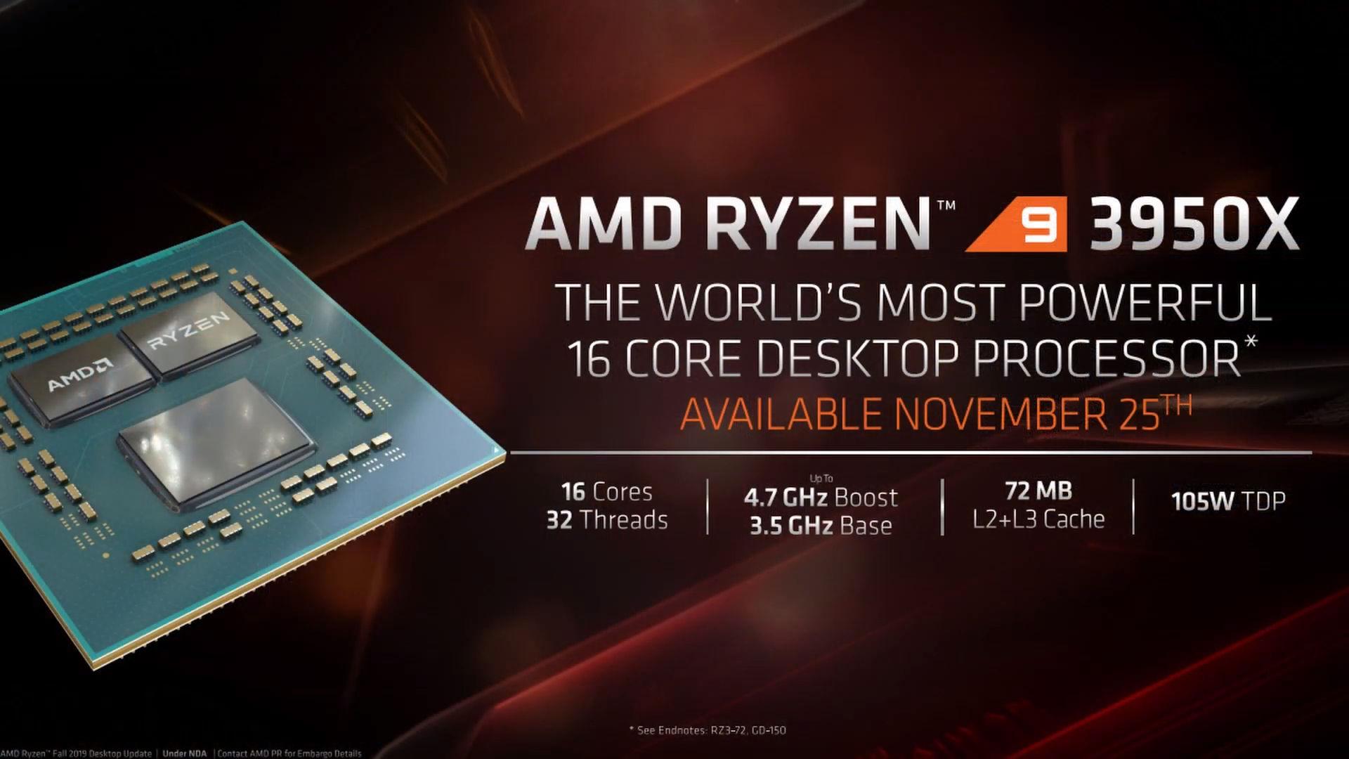 Công bố chính thức Ryzen 9 3950X 1