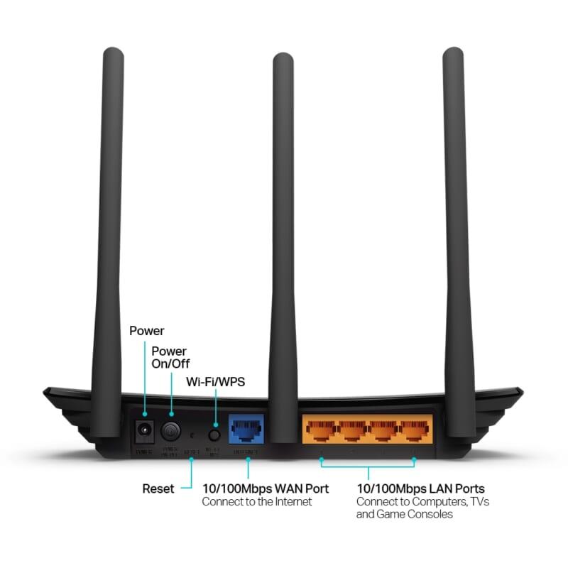 Router phát wifi TP Link TL WR940N chuẩn N 450 Mbps 3 ăng ten THDV 3