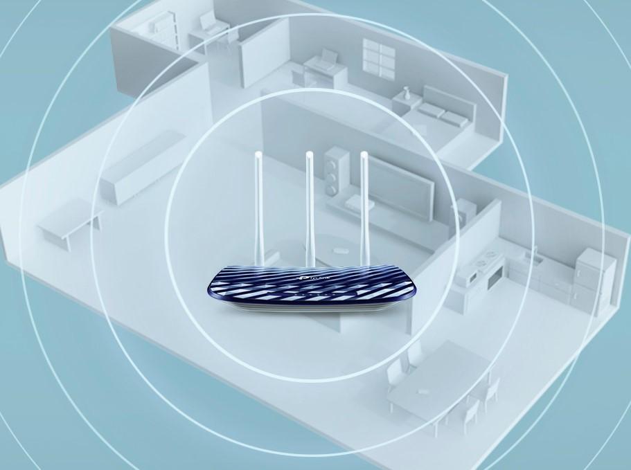 Router wifi tp link c20 cho độ phủ sóng rộng với 3 ăng ten