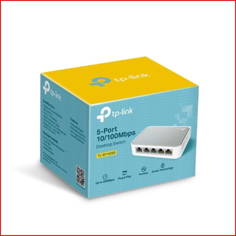 Switch TPlink TL-SF1005D Bộ chia tín hiệu để bàn 5 cổng TIN HOC DAI VIET 2