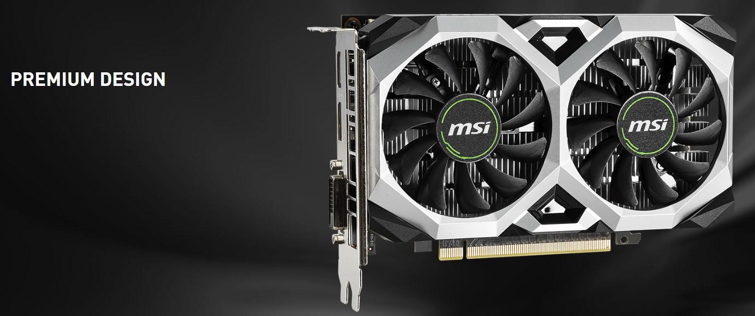 VGA MSI GeForce GTX 1650 Ventus XS OC 4GB GDDR5 tin hoc dai viet