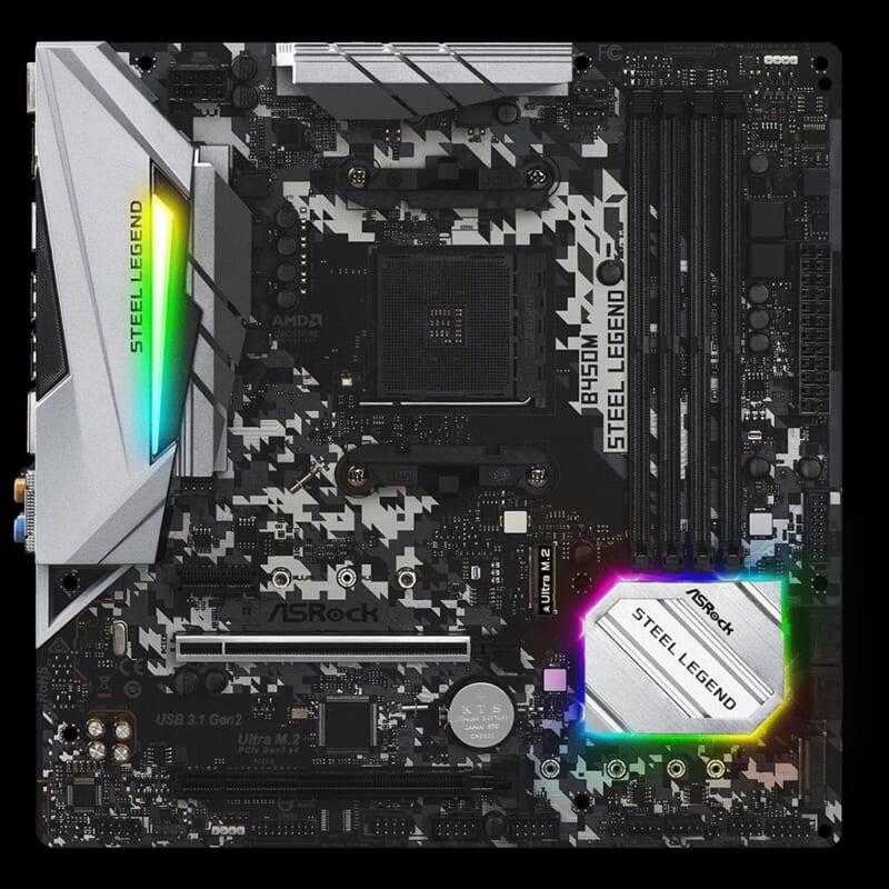 Mainboard Asrock B450M Steel Legend Socket AMD AM4 4