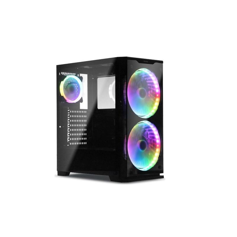 Case Thùng Máy Sama Crystal Mid Tower 3 Fan RGB VGA 383mm CPU 162mm 4