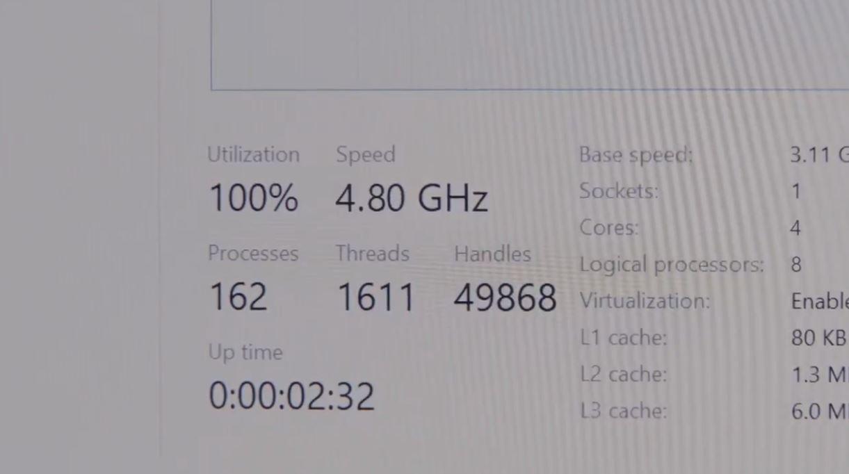 Intel Tiger Lake 4.8 GHz