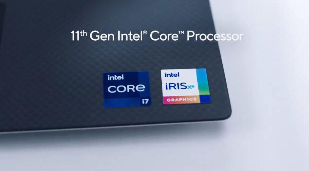 Intel Tiger Lake Core i7 and Iris Xe GPU Logo ro ri