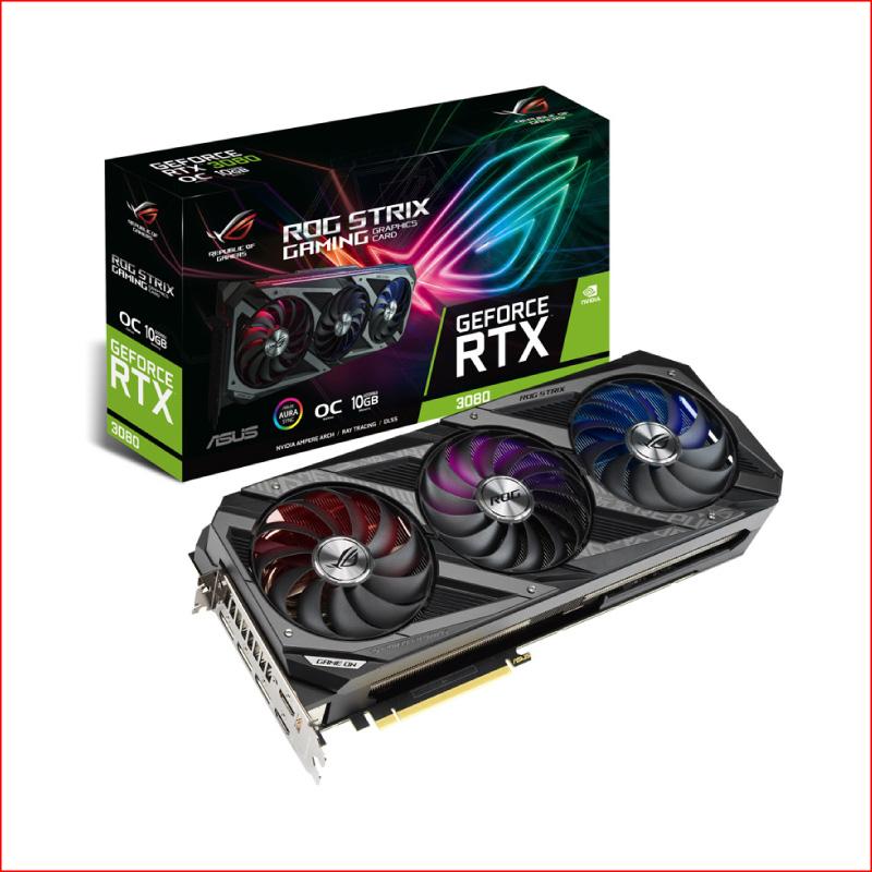 VGA Asus ROG Strix Gaming GeForce RTX 3080 10GB ROG STRIX RTX3080 10G GAMING