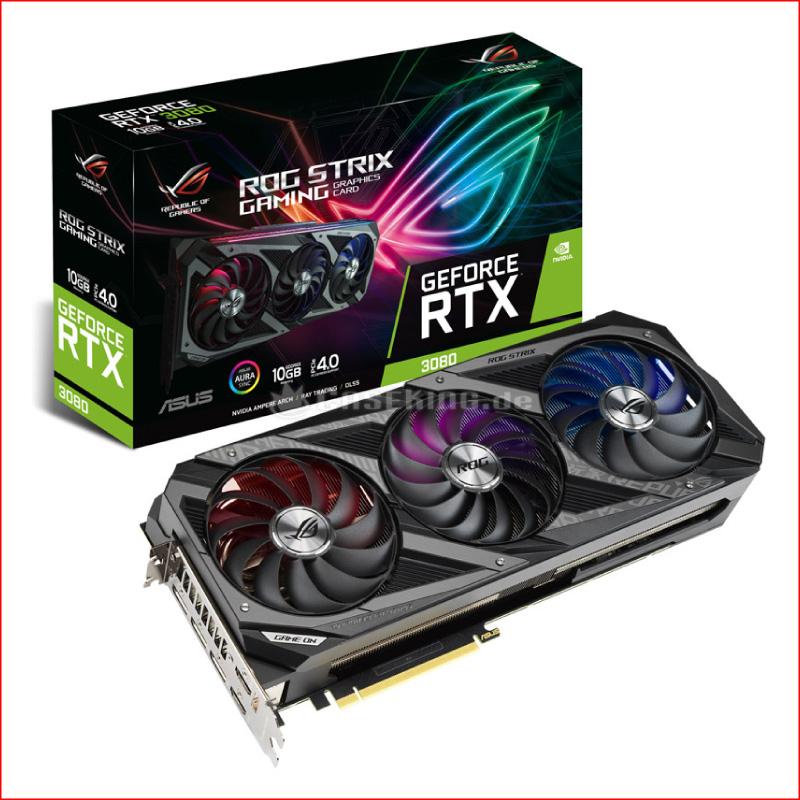 VGA Asus ROG Strix Gaming GeForce RTX 3080 OC 10GB ROG STRIX RTX3080 O10G GAMING