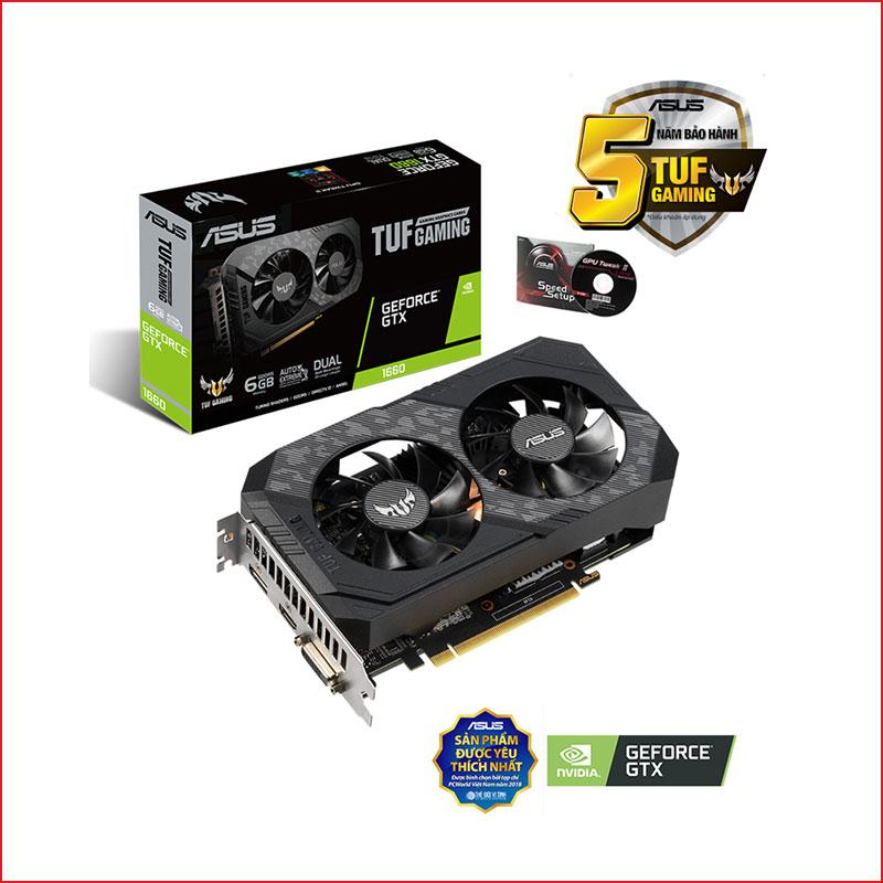 VGA Asus TUF Gaming GeForce GTX 1660 Super 6GB TUF GTX1660S 6G GAMING