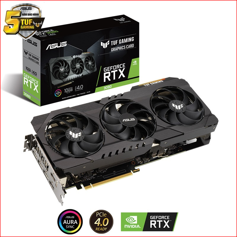 VGA Asus TUF Gaming GeForce RTX 3080 OC 10GB TUF RTX3080 10G GAMING