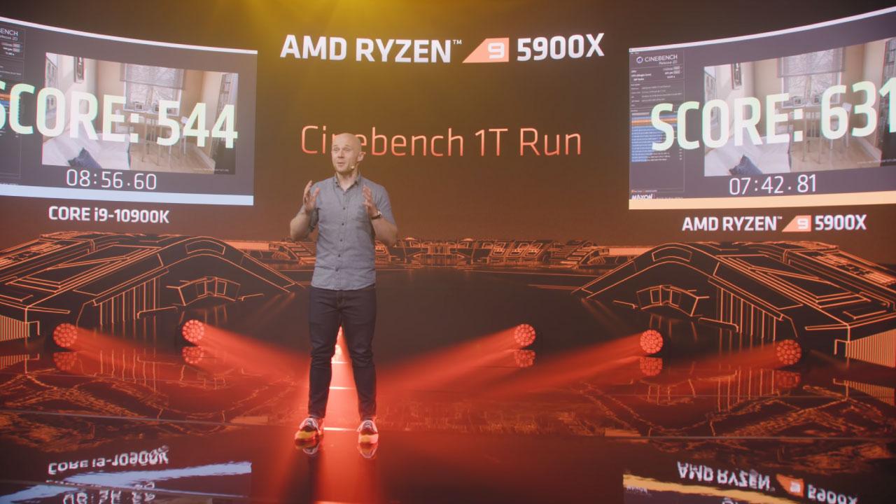 Single core amd ryzen 9 5900x vs intel core i9 10900K