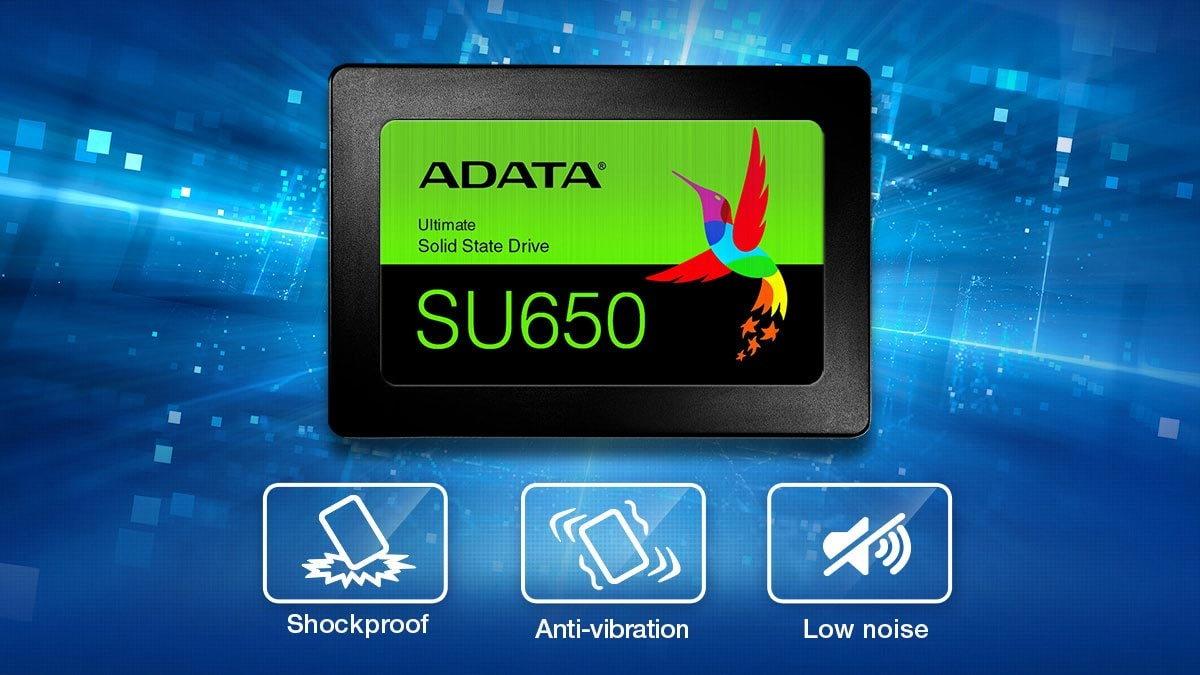 SSD Adata Su650 voi do ben cao khong tieng on khong rung