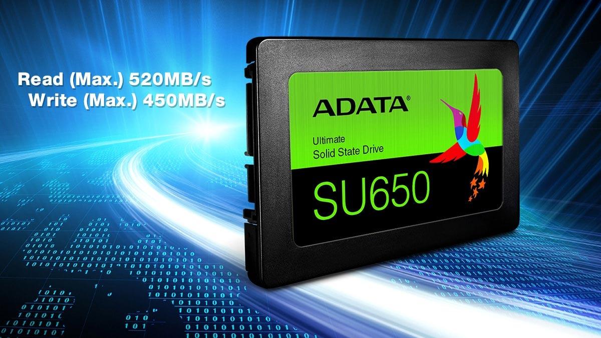 Toc do doc ghi SSD Adata SU650 len den 520 MBs