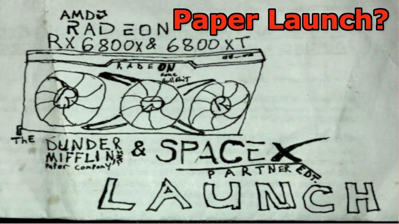 AMD paper launch RX 6800 6800XT