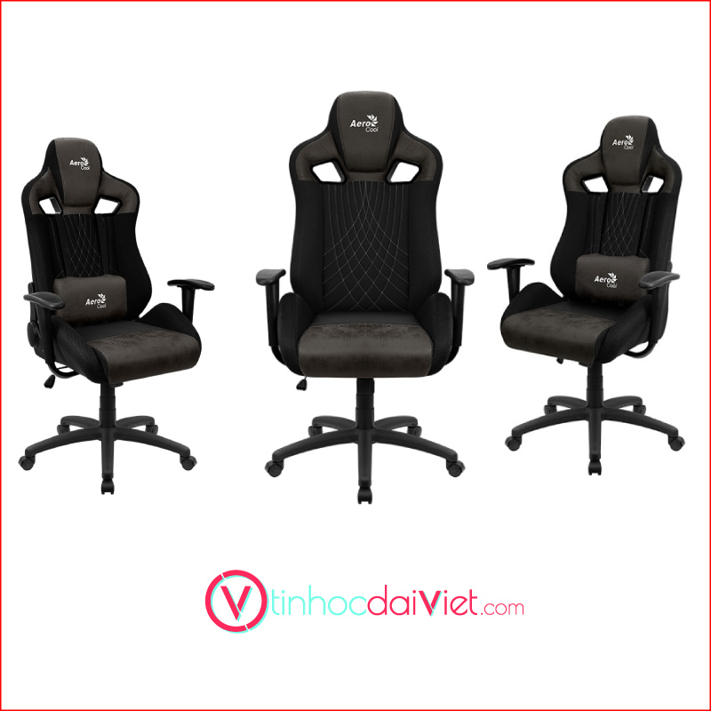 Ghe Gaming AeroCool AeroSuede Chair Earl Iron Black 1