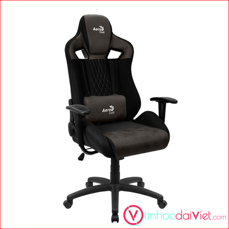 Ghe Gaming AeroCool AeroSuede Chair Earl Iron Black 2
