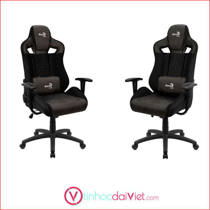 Ghe Gaming AeroCool AeroSuede Chair Earl Iron Black 4