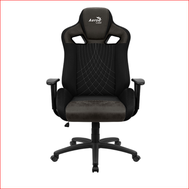 Ghe Gaming AeroCool AeroSuede Chair Earl Iron Black