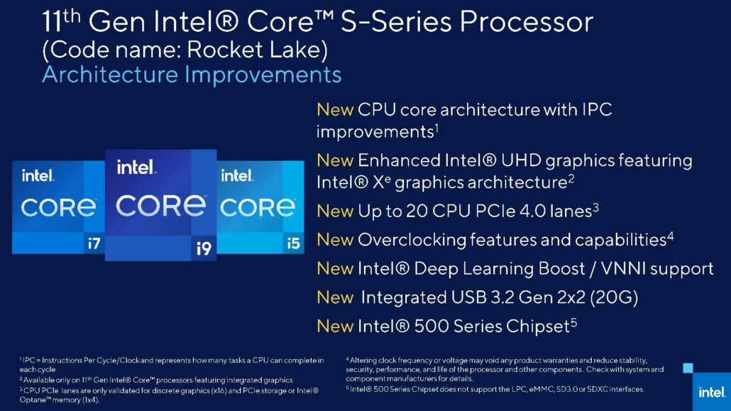 Intel Rocket Lake S Architecture Information 1