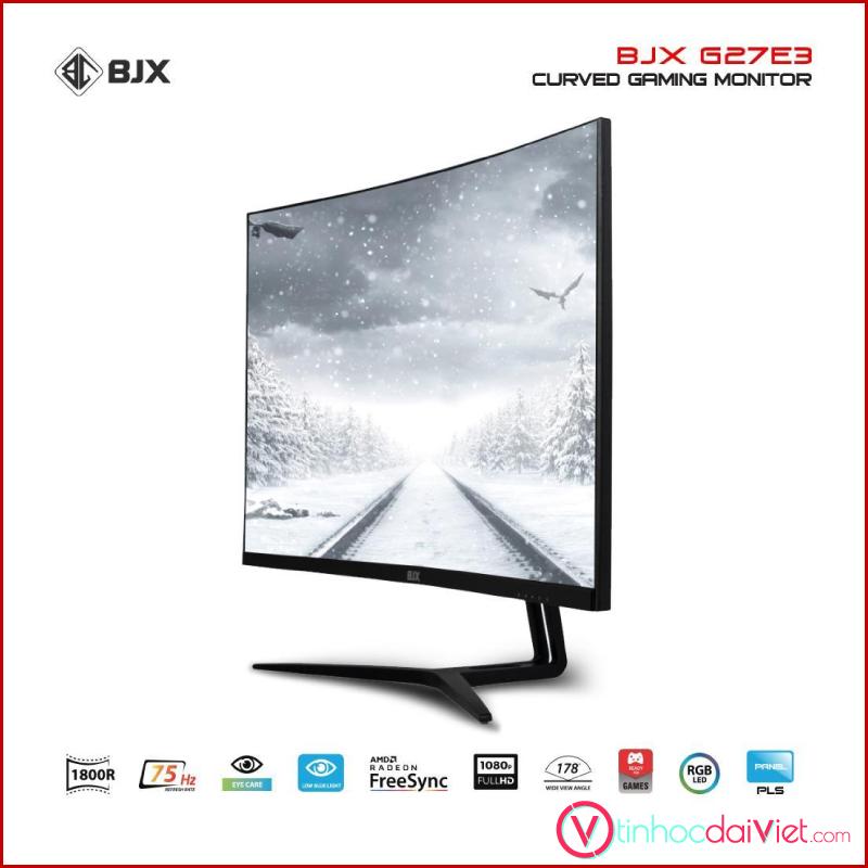 Man Hinh Cong BJX G27E3 Gaming 27 inch 75Hz Full HD IPS Led RGB 2