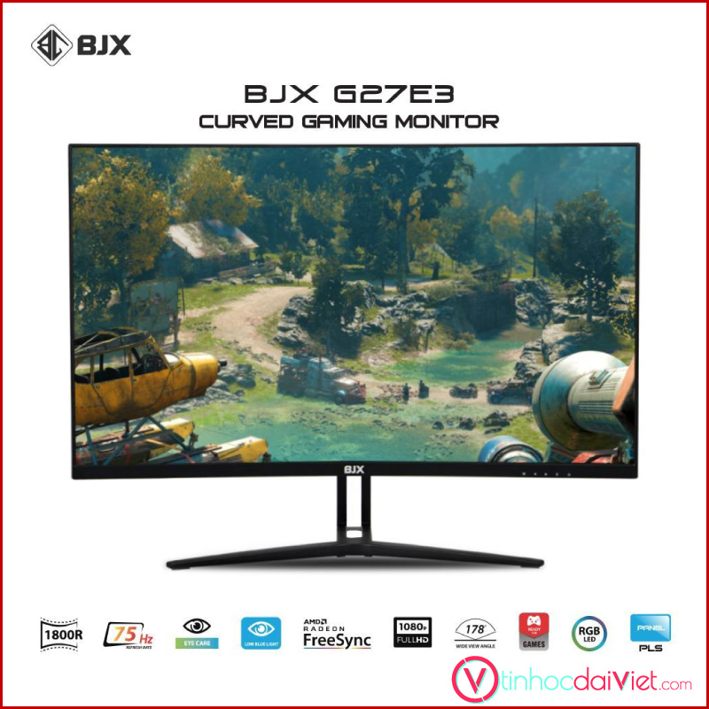 Man Hinh Cong BJX G27E3 Gaming 27 inch 75Hz Full HD IPS Led RGB 3