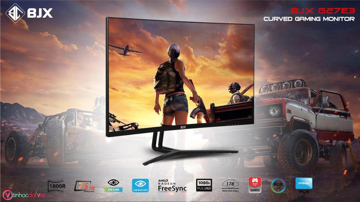 Man Hinh Cong BJX G27E3 Gaming 27 inch 75Hz Full HD IPS Led RGB 5