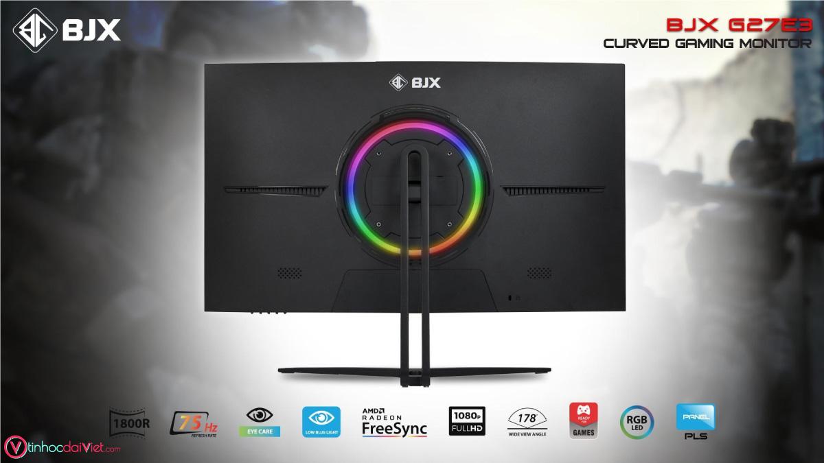 Man Hinh Cong BJX G27E3 Gaming 27 inch 75Hz Full HD IPS Led RGB 7