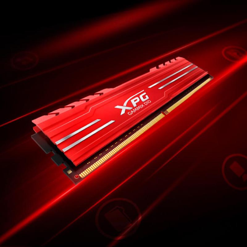 RAM Desktop Adata DDR4 XPG GAMMIX D10 8GB 3000 RED 8