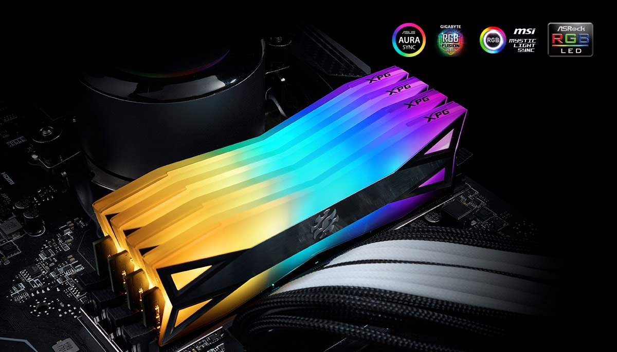 RAM Desktop Adata DDR4 XPG SPECTRIX D60 LED 16GB 32GB 1