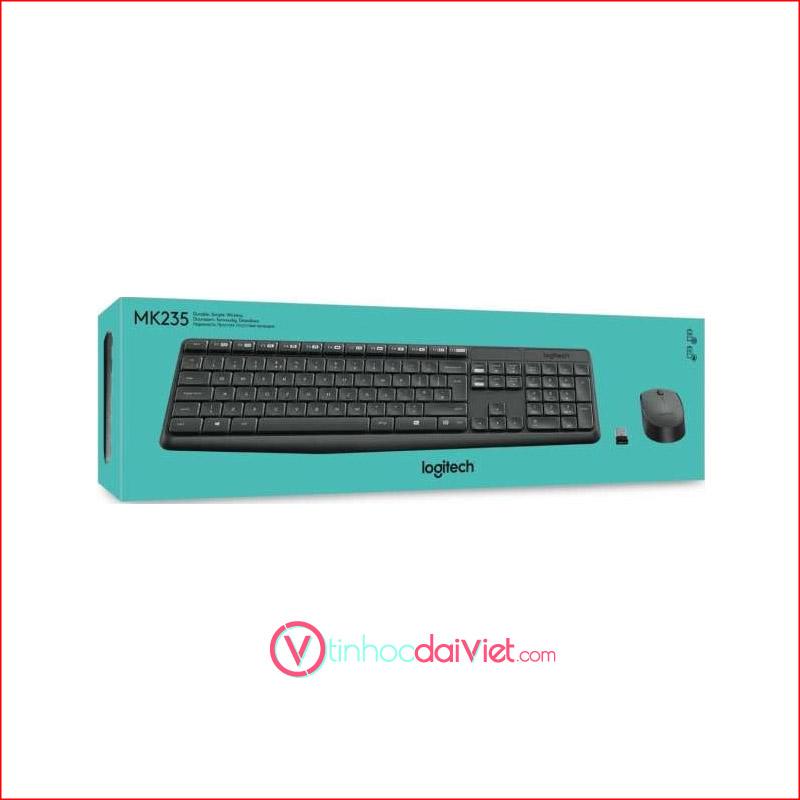 Combo Ban Phim Chuot Logitech MK235 Wireless 3