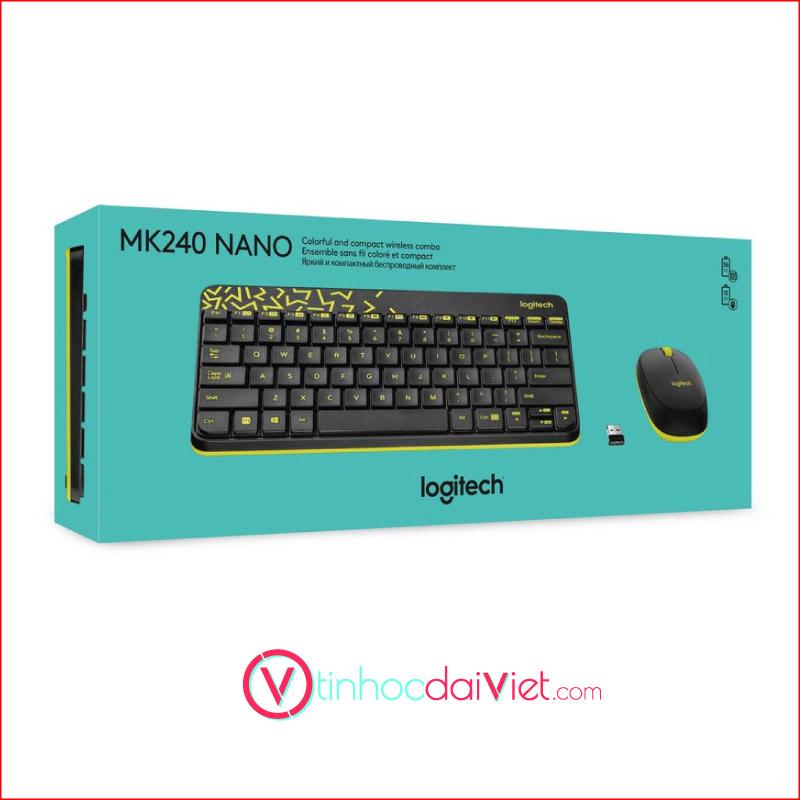 Combo Ban Phim Chuot Logitech MK240 Wireless 2