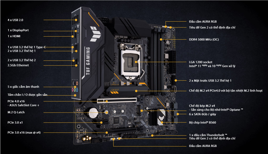 Mainboard Asus TUF Gaming B560M Plus