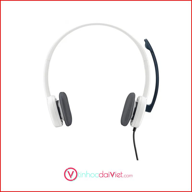 Tai Nghe Logitech Stereo Headset H150 WhiteBLue 2
