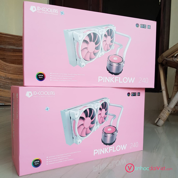 Tan Nhiet Nuoc AIO ID Cooling PinkFlow 240 5