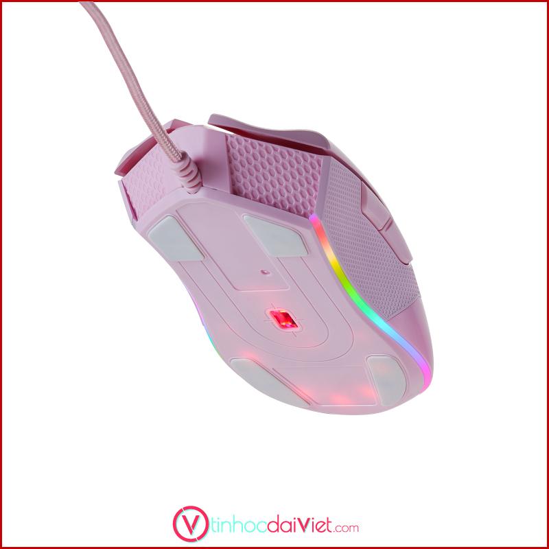 chuot gaming bjx m9 pink rgb led 2