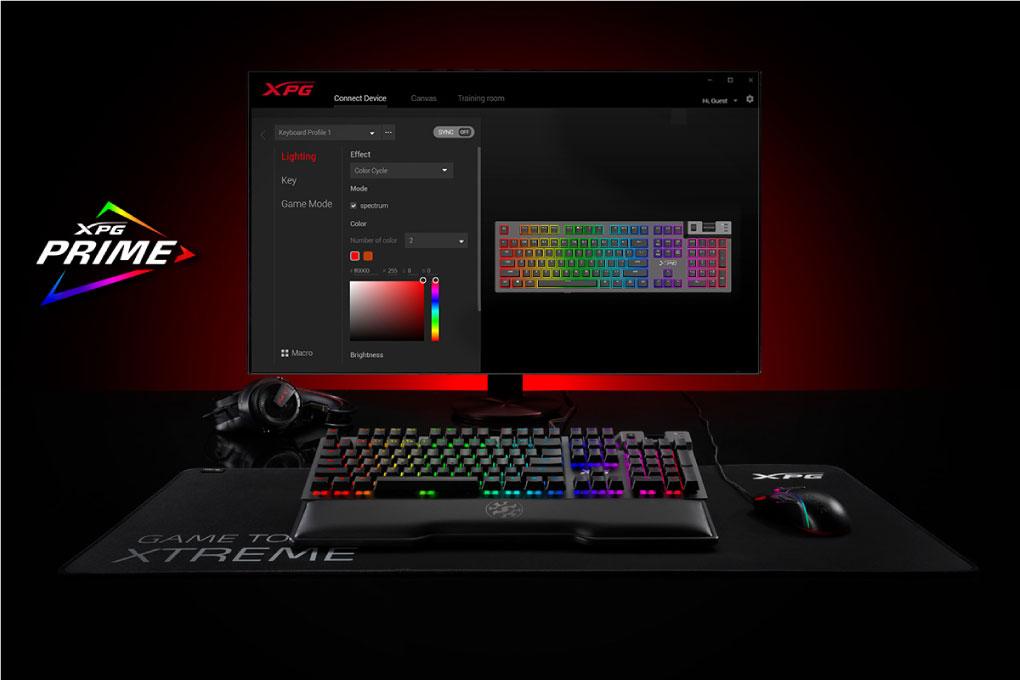 Ban Phim Co Gaming Adata XPG Summoner Cherry MX RGB Tuong Thich Voi XPG Primer
