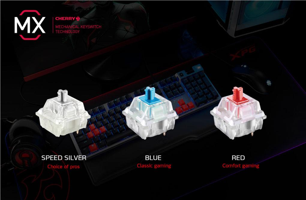 Ban Phim Co Gaming Adata XPG Summoner Cherry MX RGB Voi Cong Tac Phim Cherry MX RGB