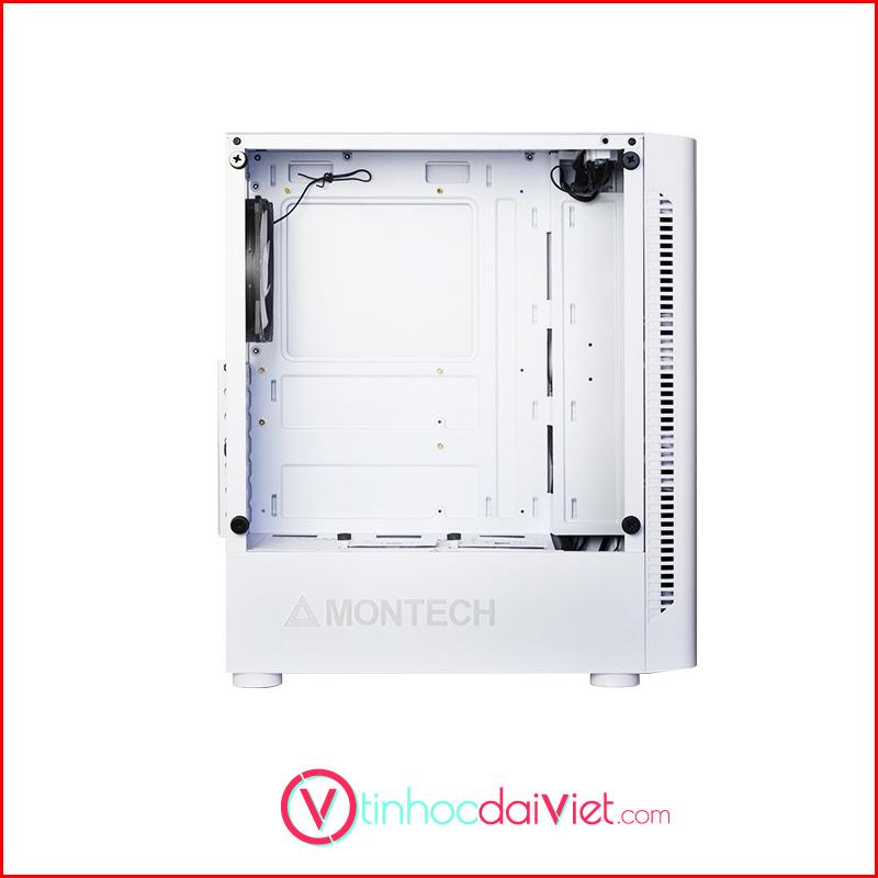Case May Tinh Montech X1 Black White Tang 4 Fan RGB 3