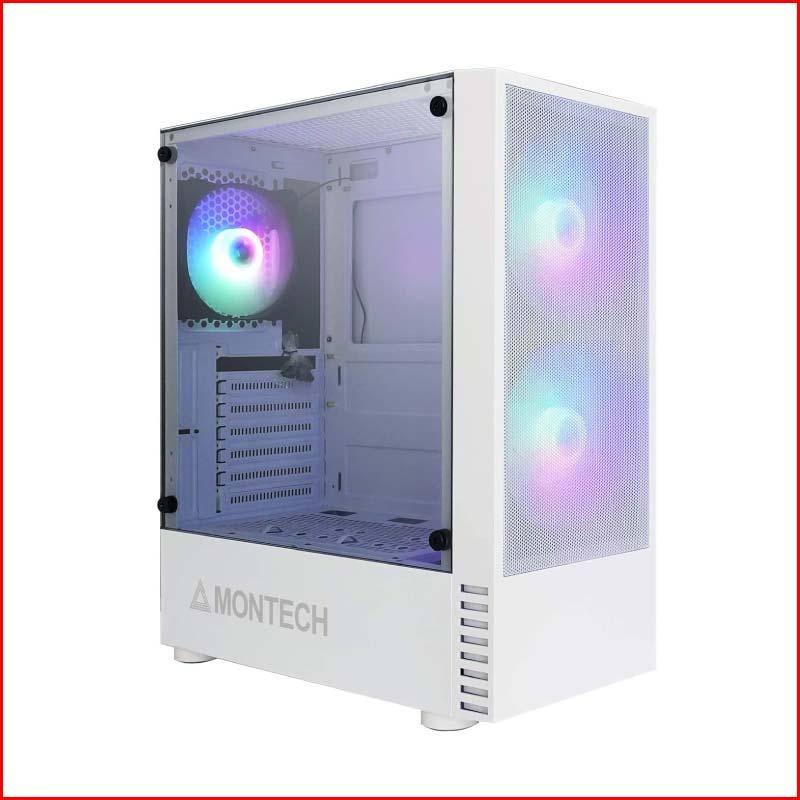 Case May Tinh Montech X2 Black White Tang 3 Fan RGB