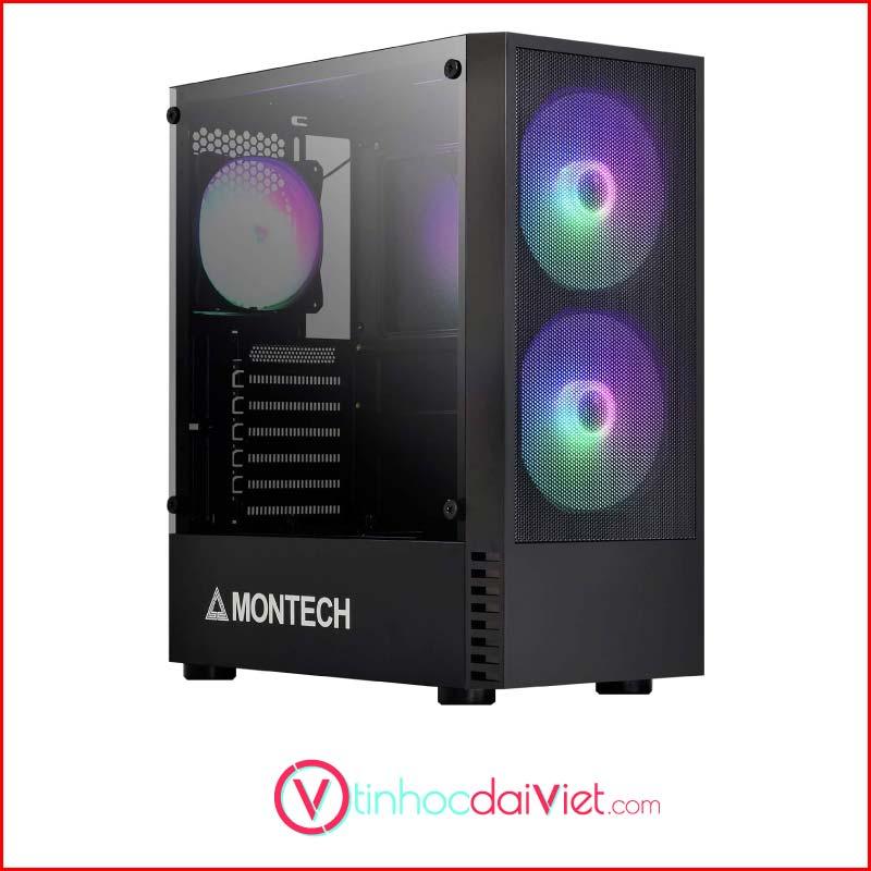 Case May Tinh Montech X2 Black White Tang 3 Fan RGB1