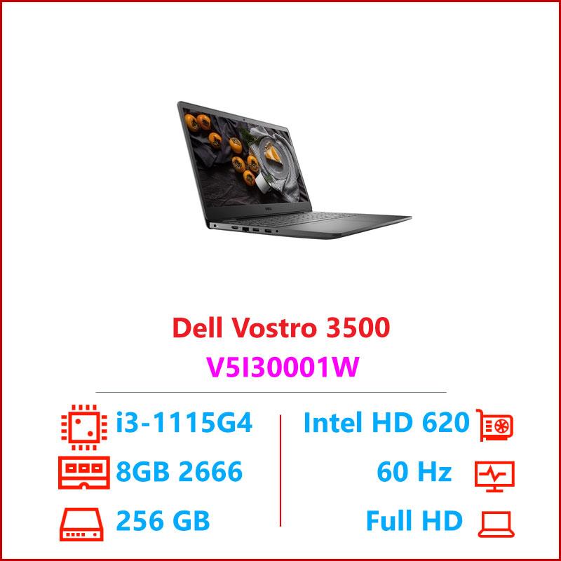 Laptop Dell Vostro 3500 V5I3001W Black i3 115G48GB RAMSSD256GB