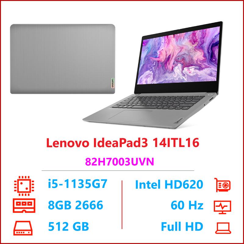 Laptop Lenovo IdeaPad 3 14ITL6 82H7003UVN Xam i5 1135G78GB RAMSSD 512GB